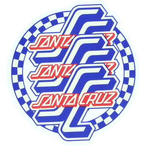 Santa Cruz Check Ogsc Mylar Decal 3.75x4""