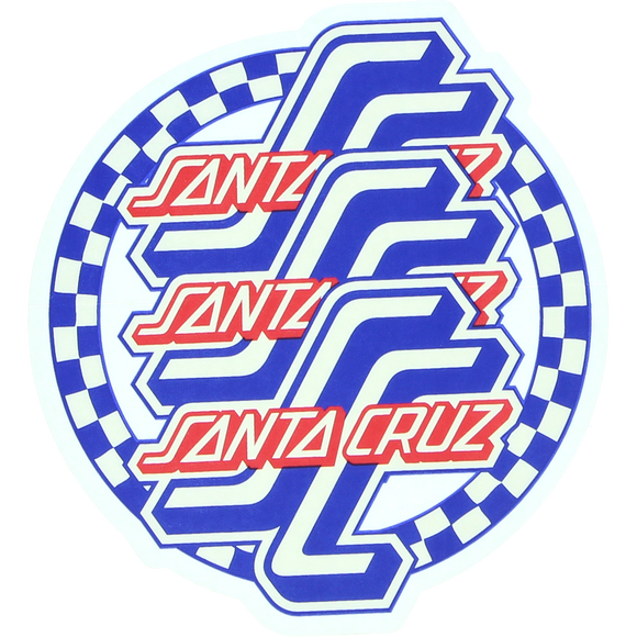 Santa Cruz Check Ogsc Mylar Decal 3.75x4