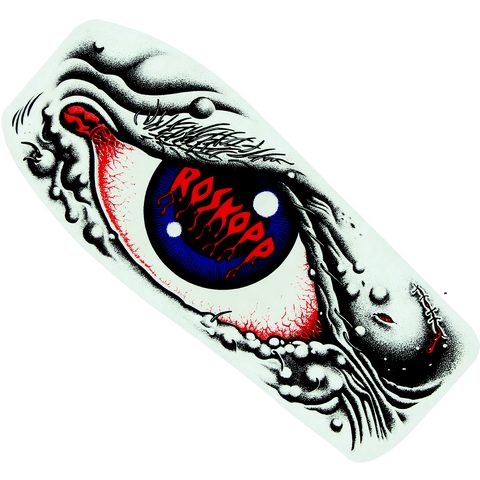 "Santa Cruz Rob Eye Decal 2.5""x5.87"" Black/Blue/Red"