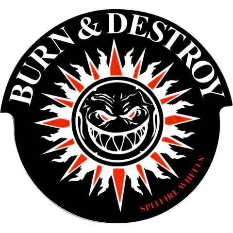 Spitfire Burn & Destroy Md Decal Single