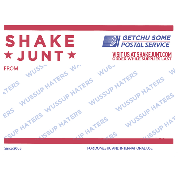 Shake Junt Postal Decal Single