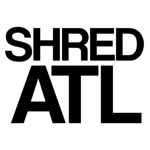 "Shred Stickers - Shred ATL Black 6""x4"" Single"