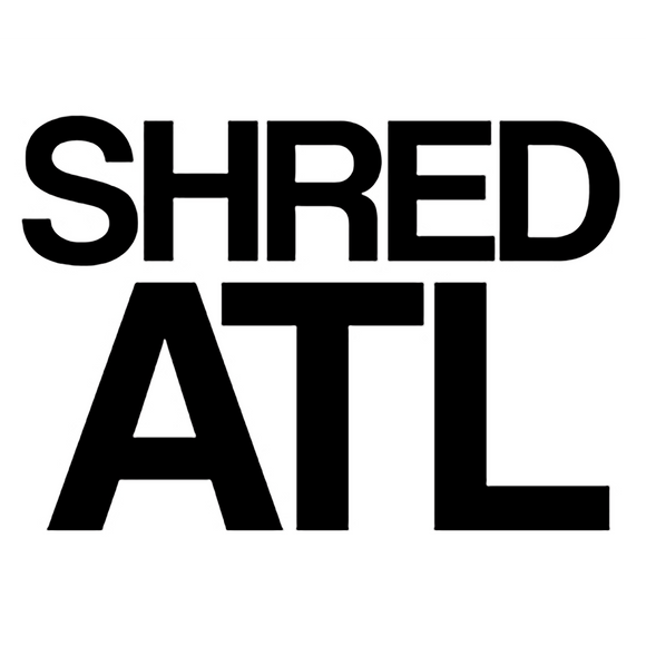 Shred Stickers - Shred ATL Black 6