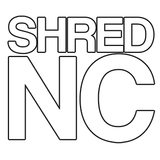 "Shred Stickers - Shred Nc/White 5""x4.5"" Single 