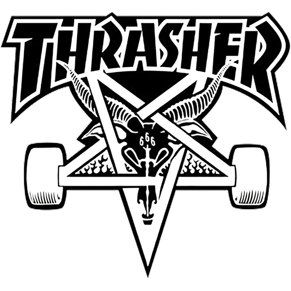 Thrasher Skategoat Board Large Decal Single