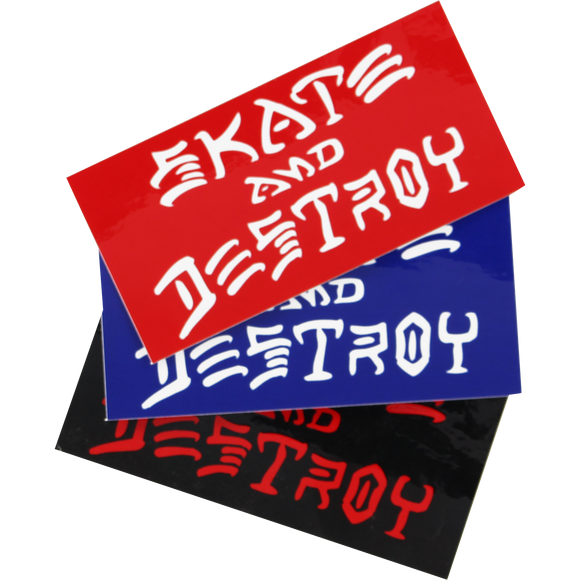 Thrasher Sk8 & Destroy Large Decal Single Assorted Colors