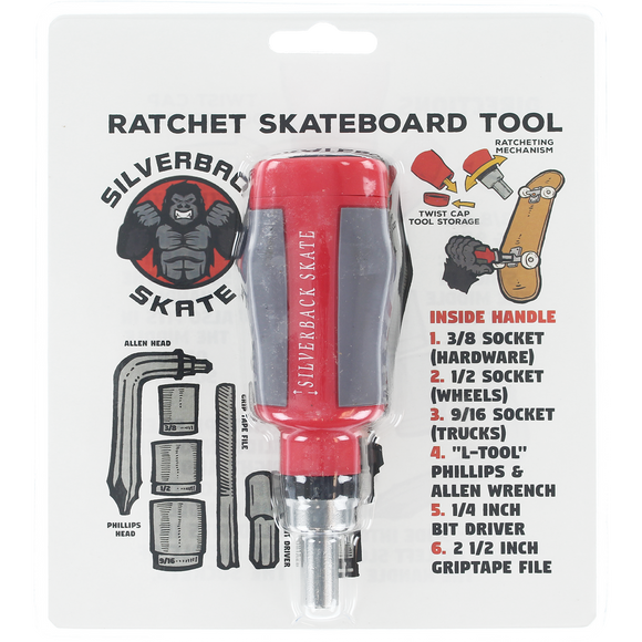 Silverback Skate Ratchet Tool Red