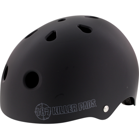 187 Pro Helmet - LARGE Matte Black/Big Logo | Universo Extremo Boards Skate & Surf