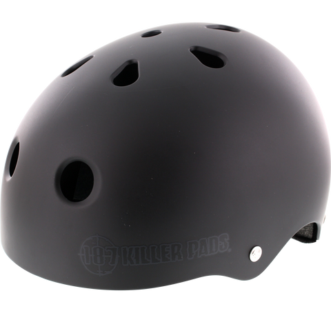187 Pro Helmet - X-LARGE Matte Black/Big Logo  | Universo Extremo Boards Skate & Surf