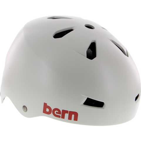 Bern Macon Satin Light Grey - LARGE Helmet | Universo Extremo Boards Skate & Surf