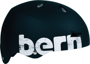Bern Macon Matte Black Distressed Small Skateboard Helmet