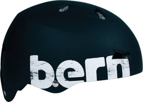 Bern Macon Matte Black Distressed Medium Skateboard Helmet