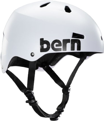 Bern Macon Satin White Distressed Medium Skateboard Helmet| Universo Extremo Boards