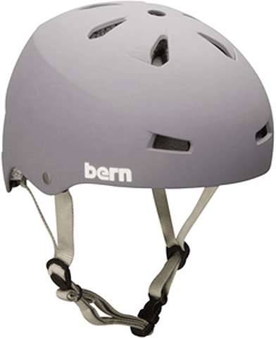 Bern Macon Matte Grey Medium Skateboard Helmet