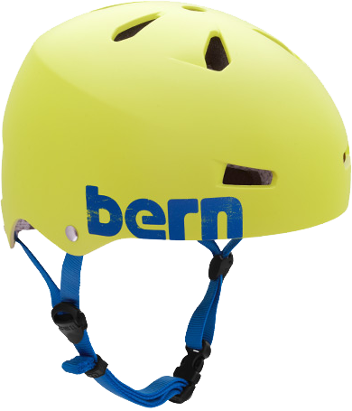 Bern Macon Matte Neon Yellow Medium Skateboard Helmet| Universo Extremo Boards
