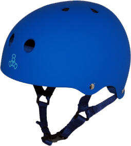 Triple 8 Helmet Royal Rubber LARGE | Universo Extremo Boards Skate & Surf