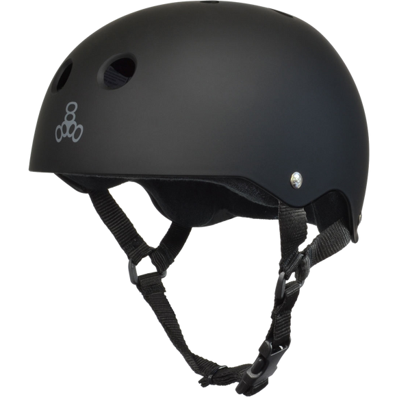 Triple 8 Helmet Black Rubber/Black - X-SMALL | Universo Extremo Boards Skate & Surf