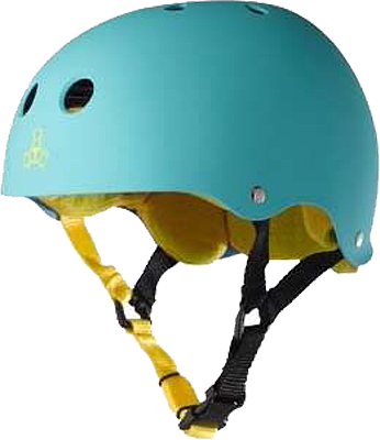 Triple 8 Helmet Teal Rubber/Yellow MEDIUM | Universo Extremo Boards Skate & Surf