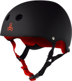 Triple 8 Helmet Black Rubber/Red LARGE | Universo Extremo Boards Skate & Surf