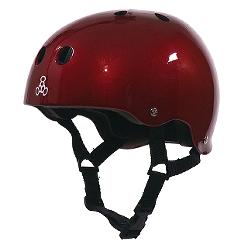 Triple 8 Helmet Red Metallic/Std.Liner MEDIUM | Universo Extremo Boards Skate & Surf