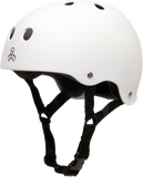 Triple 8 Helmet White Rubber X-LARGE | Universo Extremo Boards Skate & Surf
