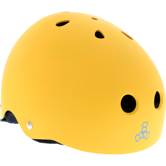 Triple 8 Helmet Yellow Rubber/Black - SMALL | Universo Extremo Boards Skate & Surf