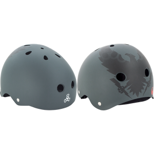 Triple 8 Helmet Vallely Get Used To It - SMALL Charcoal  | Universo Extremo Boards Skate & Surf