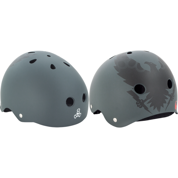 Triple 8 Helmet Vallely Get Used To It - X-LARGE Charcoal  | Universo Extremo Boards Skate & Surf