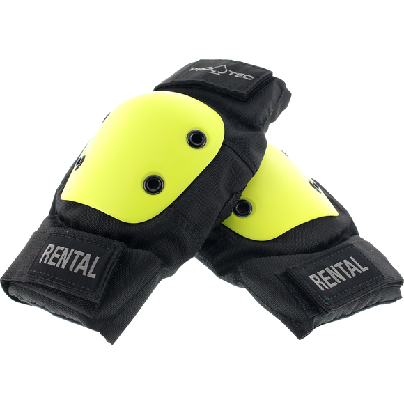 Protec Rental Elbow XL-Black/Yellow W/Black Straps