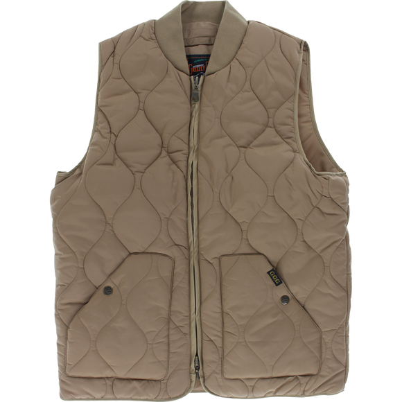 Grizzly Big Game Vest MEDIUM Khaki | Universo Extremo Boards Skate & Surf