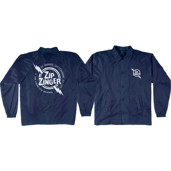 Krooked Zip Zinger Jacket X-LARGE Navy/White | Universo Extremo Boards Skate & Surf