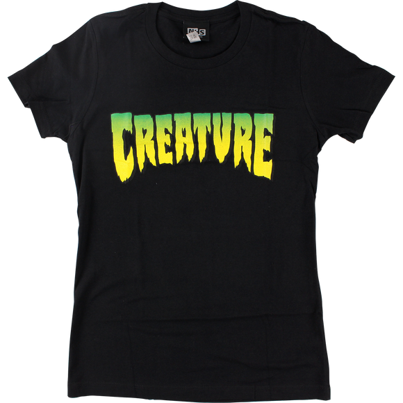 Creature Logo Girls T-Shirt - Size: LARGE Black