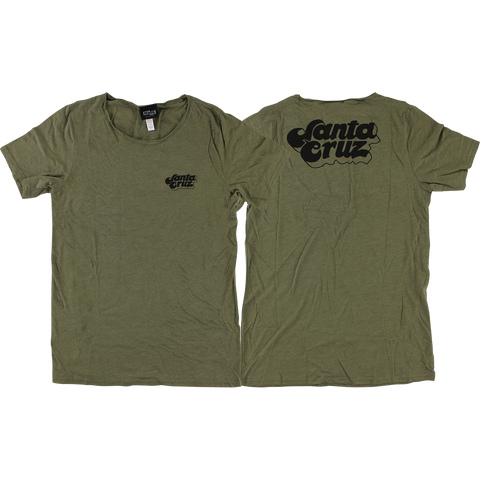 Santa Cruz Valley Boyfriend Girls T-Shirt - Size: SMALL Olive Triblend