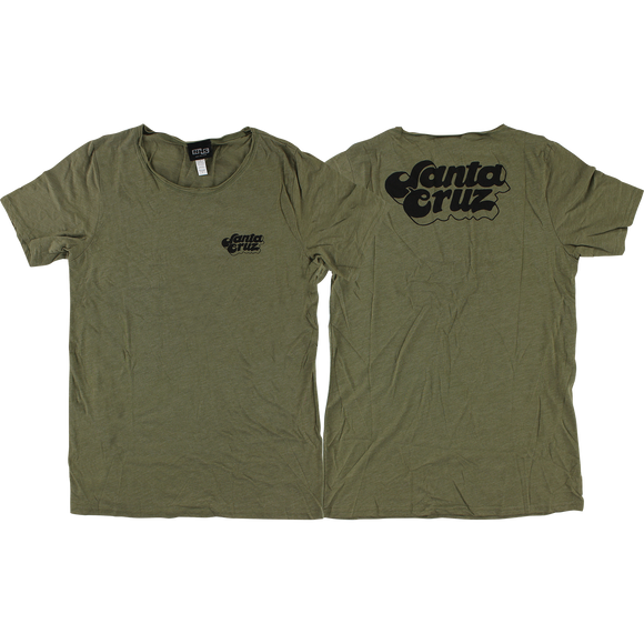 Santa Cruz Valley Boyfriend Girls T-Shirt - Size: LARGE Olive Triblend