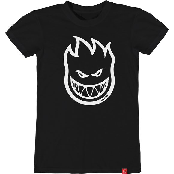 Spitfire Bighead Girls T-Shirt - Size: SMALL Black/White