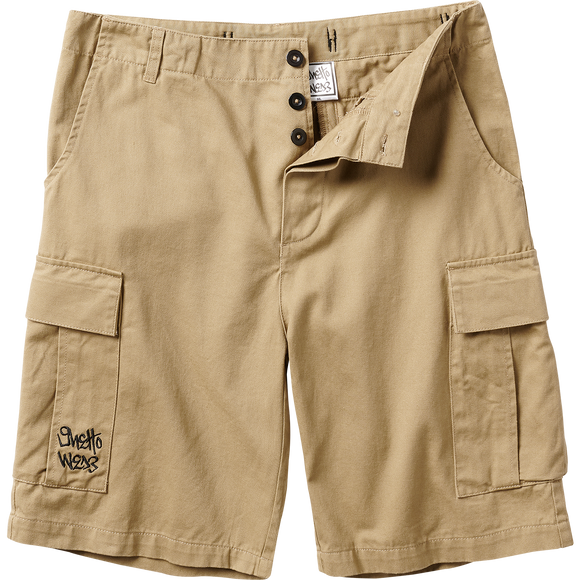Ghetto Wear Cargo Shorts - KHAKI