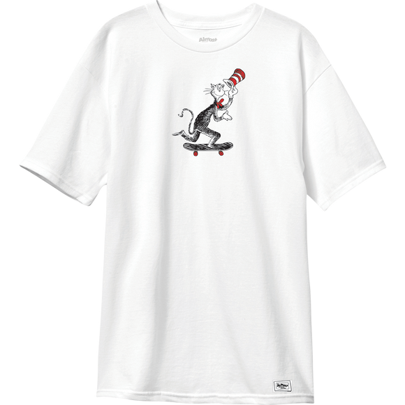 Almost Cat Pusher T-Shirt - Size: LARGE White