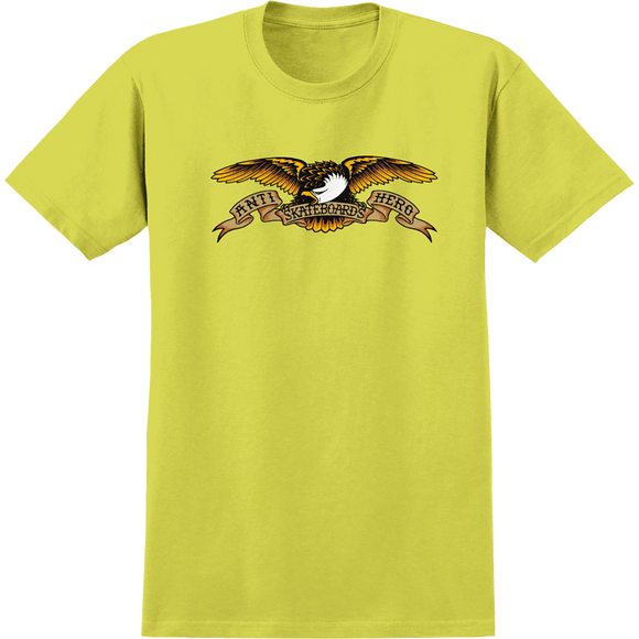 Antihero Eagle T-Shirt - Size: SMALL Safety Green
