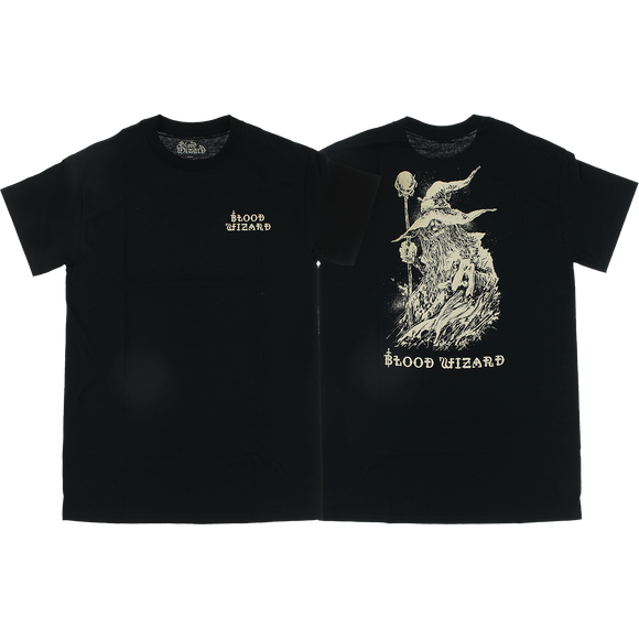 Blood Wizard Wizard T-Shirt - Size: SMALL Black