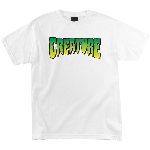 Creature Logo T-Shirt - Size: SMALL White