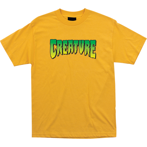 Creature Logo T-Shirt - Size: X-LARGE Gold