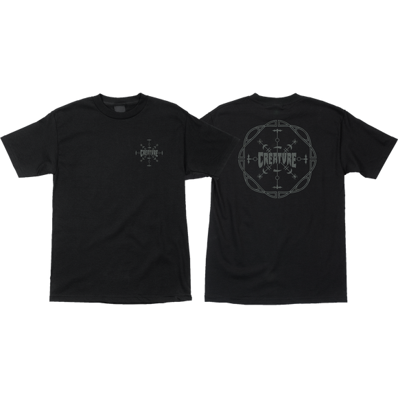 Creature Runes T-Shirt - Size: SMALL Black