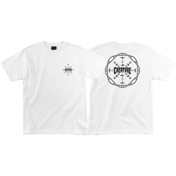 Creature Runes T-Shirt - Size: SMALL White