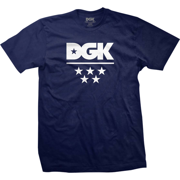 DGK All Star T-Shirt - Size: LARGE Navy