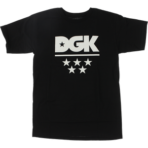 DGK All Star T-Shirt - Size: LARGE Black