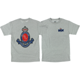 DGK Royalty T-Shirt - Size: SMALL Athletic Heather | Universo Extremo Boards Skate & Surf