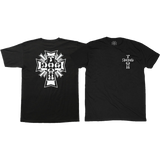 Dogtown Cross Logo T-Shirt - Size: MEDIUM Black | Universo Extremo Boards Skate & Surf