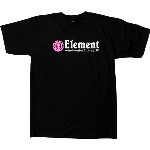 Element Horizontal Pink T-Shirt - Size: SMALL Flint Black