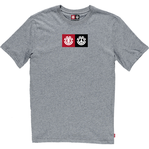 Element Peace Front T-Shirt - Size: SMALL Grey Heather