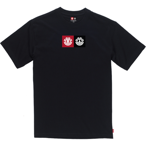 Element Peace Front T-Shirt - Size: SMALL Black